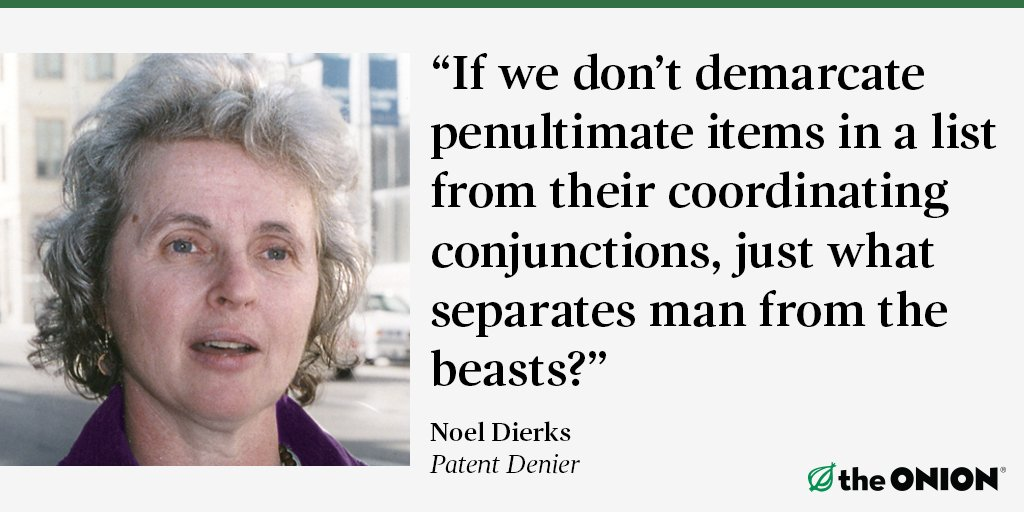 Oxford Comma Wins Court Case For Workers trib.al/jYVvZJn #WhatDoYouThink?