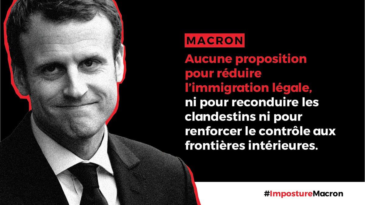 Macron ne ferait RIEN contre l'immigration. #ImpostureMacron #DebatTF1 #LeGrandDebat
