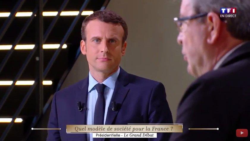 Quand Macron prend conscience qu'il va voter Mélenchon #DébatTF1