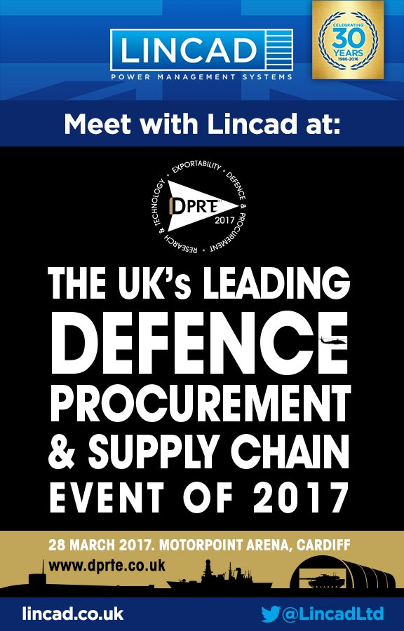 #Lincad to exhibit @DPRTE, the UK's leading defence and supply chain event on 28th March Visit us on stand 46 #DPRTE https://t.co/9bUSoGPvOb