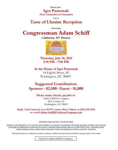 Hi @RepAdamSchiff! Why did Soros-tied Ukraninan Arms Dealer Igor Pasternak hold a fundraiser for you? #ComeyHearing