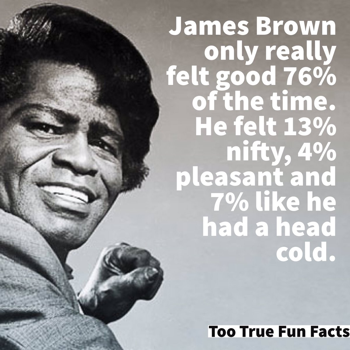 He knew. #jamesbrown #music #MusicMonday #Soul #musicians #Songs #funny #Memes #humor #humour #parody #parodyaccount #Satire #lol #lols<br>http://pic.twitter.com/1l5Credpe7