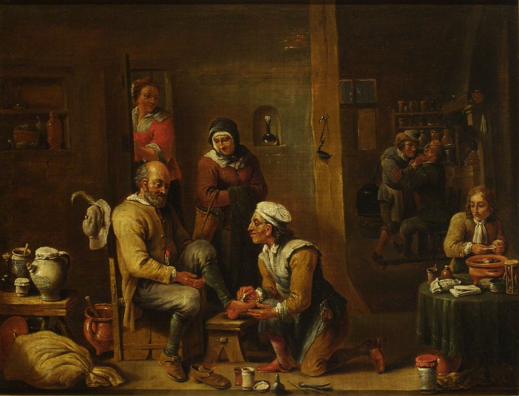 Here, the woman in brown is prob. the patient's wife, while the woman in red could be the doctor's wife or an assistant #MuseumMonday https://t.co/XxvEF7vWuP