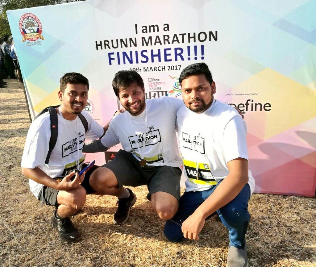 From buddies at @IDeaS_TechCen to run buddies  #hrunnmarathon #runforacause #running #5km #finishers  #MYmarathonNumber03<br>http://pic.twitter.com/xE2bPVBSq8