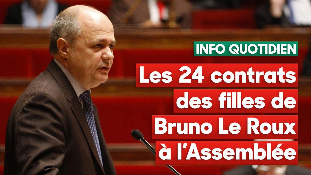 INFO QUOTIDIEN Les 24 contrats des filles de Bruno Le Roux à l&#39;Assemblée.   https:// goo.gl/aEZ9ah  &nbsp;   #Quotidien @valentineoberti<br>http://pic.twitter.com/BEuBTaZECU