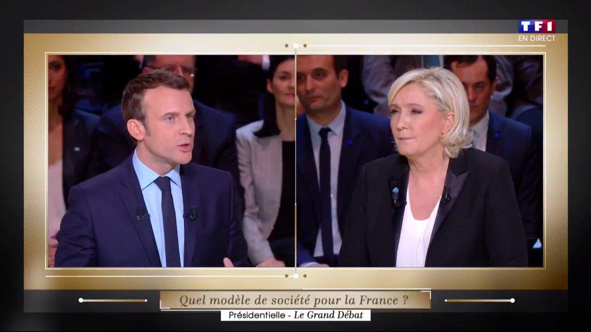Emmanuel Macron à Marine Le Pen :