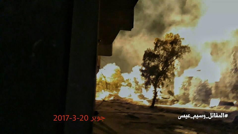 Eastern Damascus: heavy shelling on Jobar and Qabun tonight