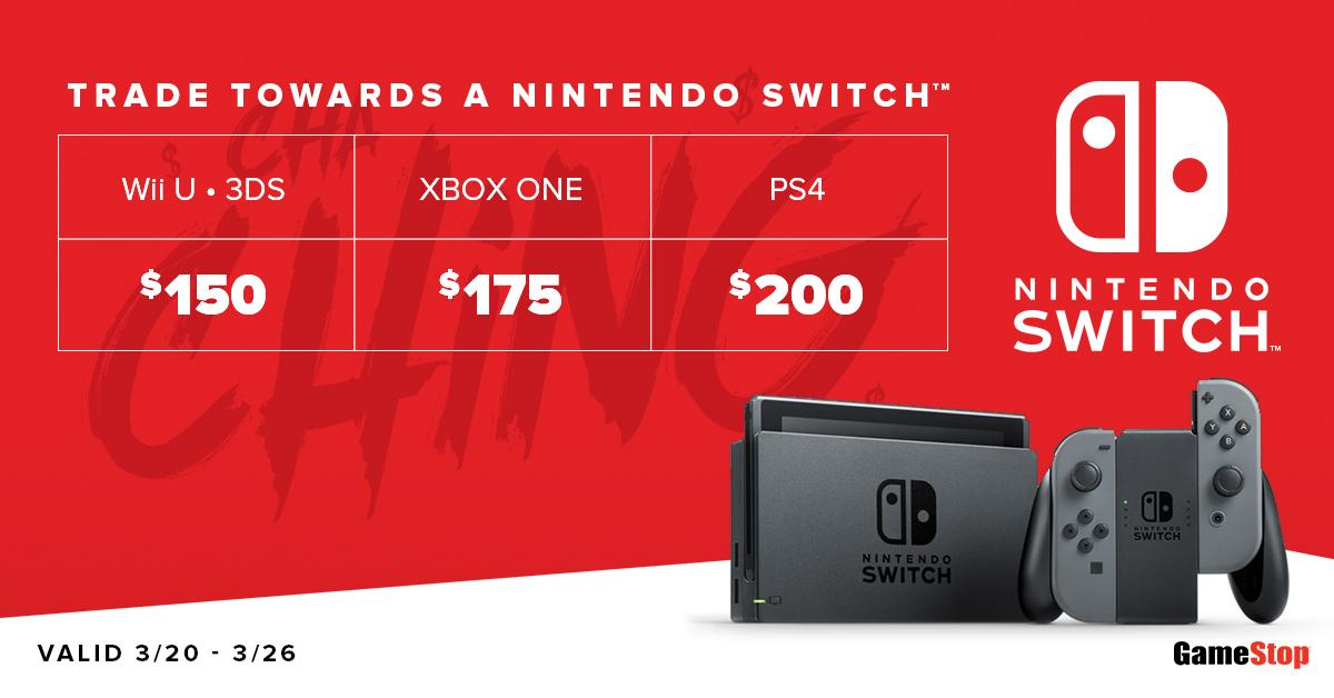Make sure you have the funds you need when our #NintendoSwitch stock replenishes on 3/22 https://t.co/EVDCQJ0Rsp