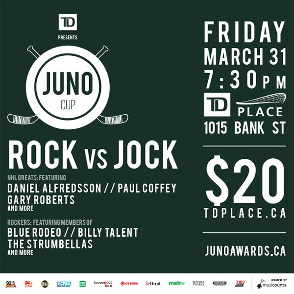 RETWEET TO WIN a pair of tickets to The JUNO Cup on Friday March, 31st...