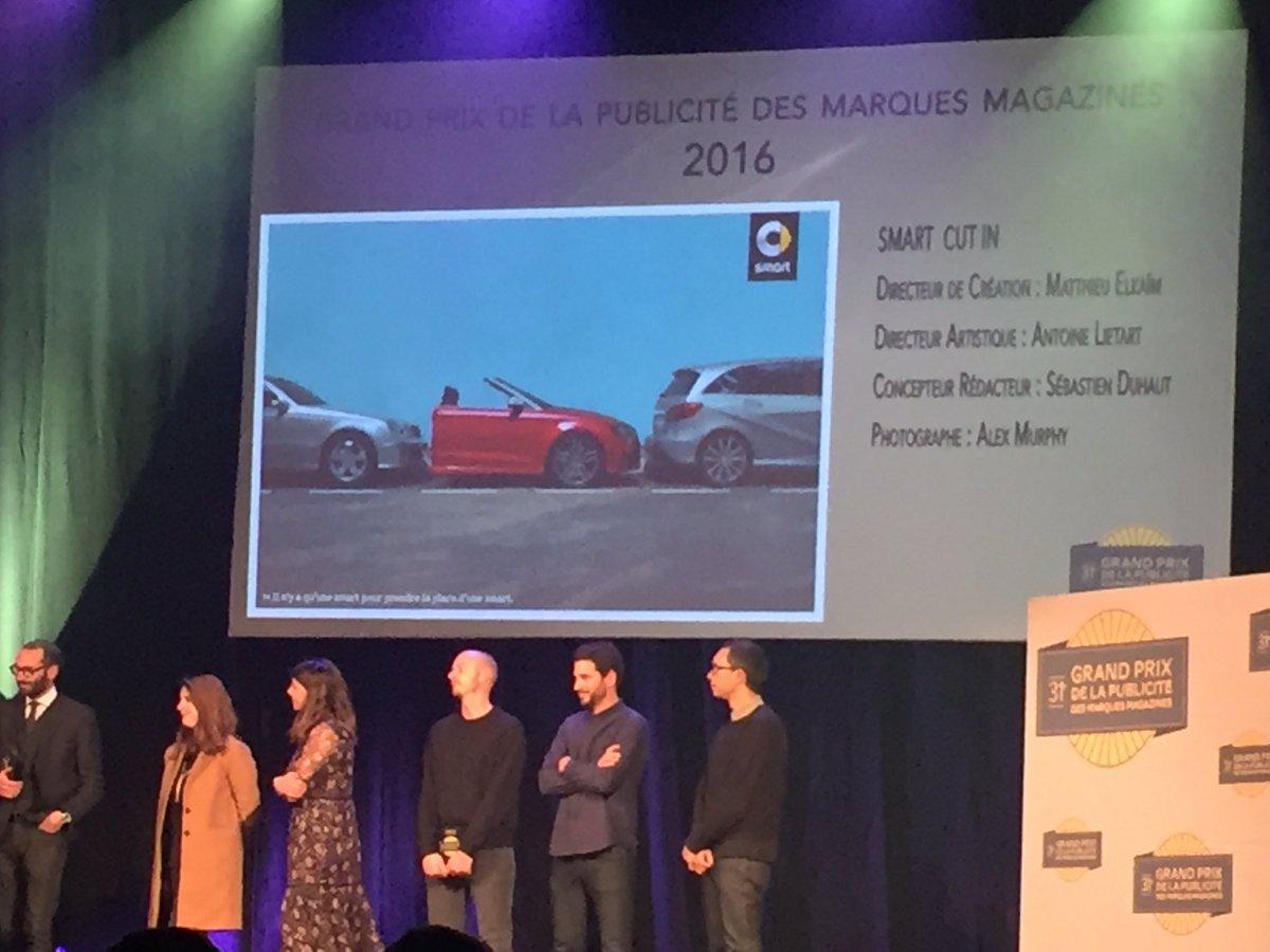 Bravo SMART - Grand Prix de la Publicité 2017!  #presse #magazine #publicité @ketilpresse @ketilmedia #DemainLaPresse<br>http://pic.twitter.com/i8wMPBROFY