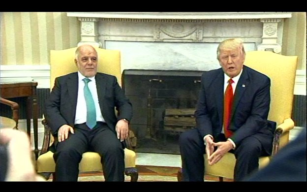 Pres Trump calls it a great honor to have the Iraqi Prime Minister visit. Al-Abadi is 9th foreign leader received by @POTUS.