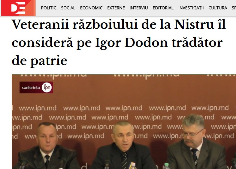 The Association of veterans of the Dnister war declared President of Moldova Dodon ast traitor and demands investigation