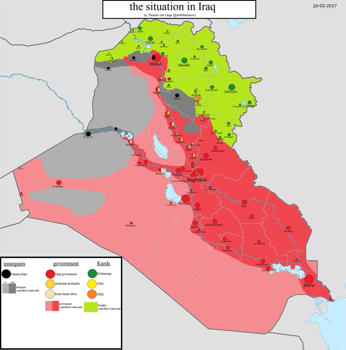 Thomas van Linge on Twitter Iraq MAP UPDATE the situation in