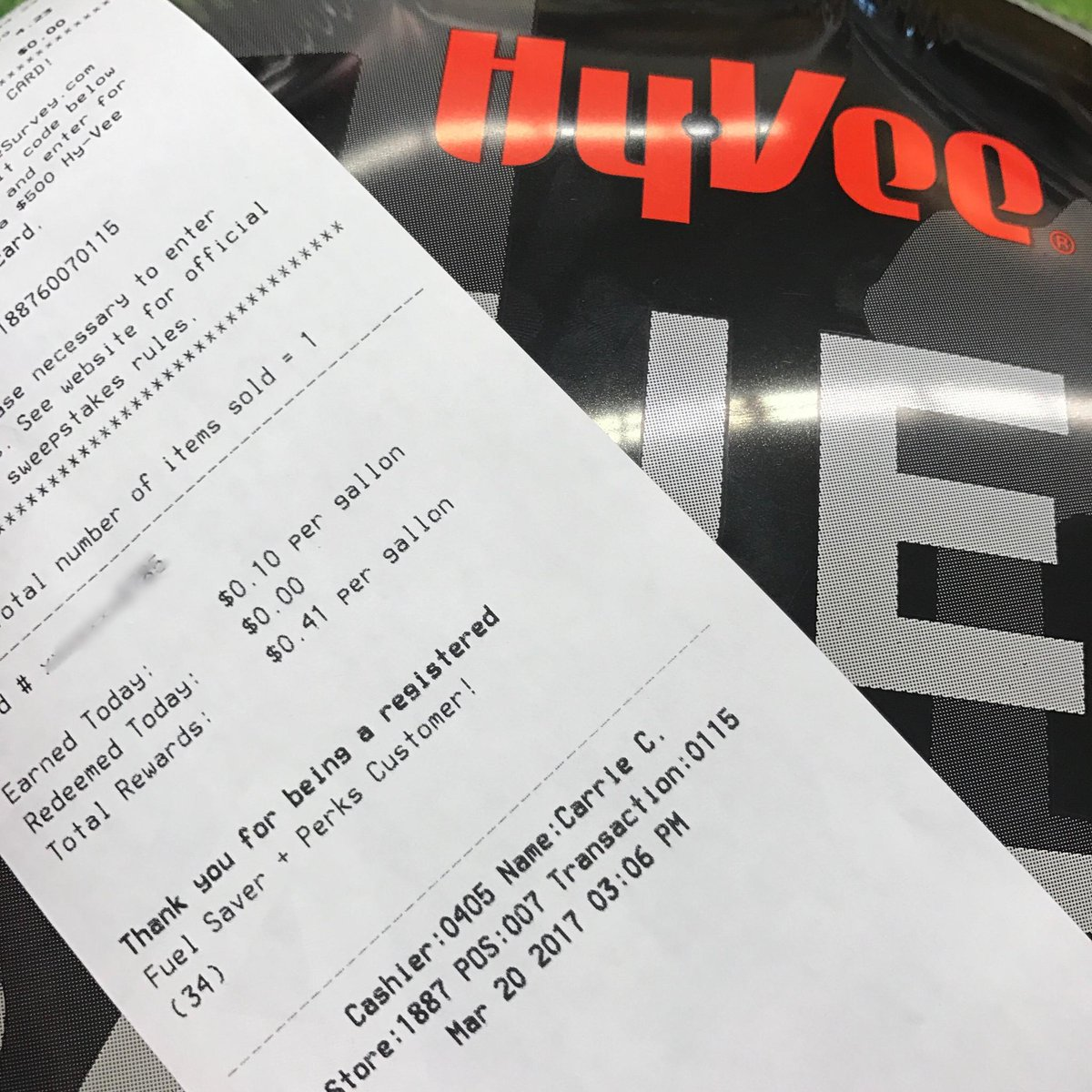 Share your receipt! How much Fuel Saver did you earn today in our Doub...