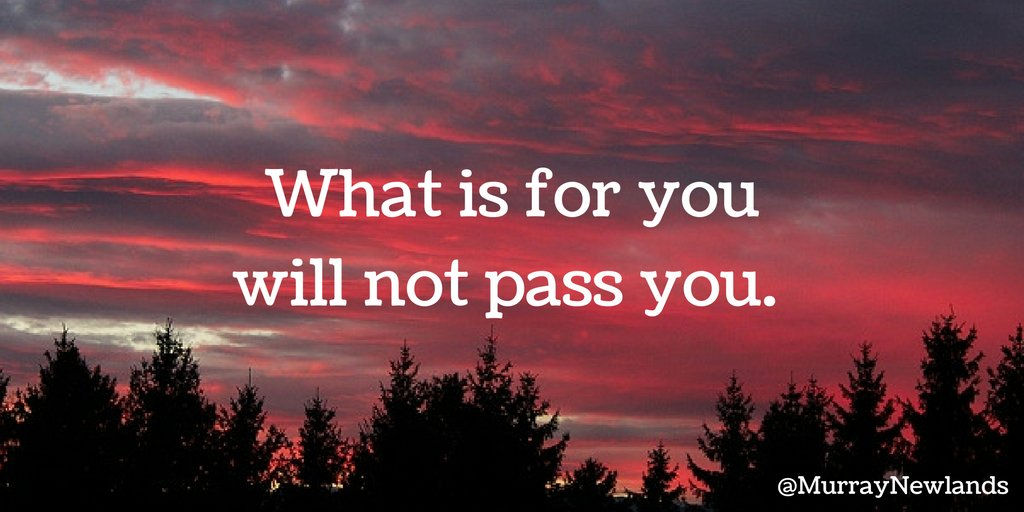 What is for you will not pass you. #MondayMotivation #Inspiration http...