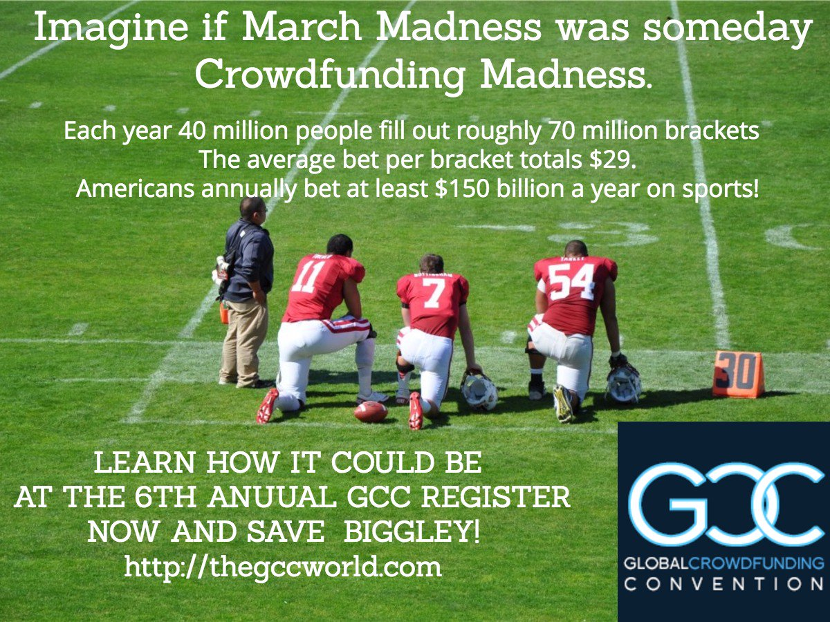 Imagine if #marchmadness was #crowdfunding madness.  Learn how it could be at https://t.co/7l6duSf6Qn #espn @inc https://t.co/kDqVvqTe76
