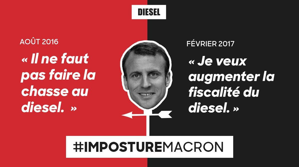 Macron m'a pas vraiment convaincu sur le diesel... #ImpostureMacron #LeGrandDébat