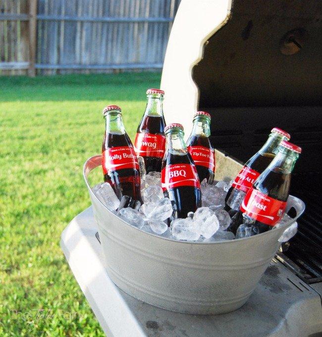 DIY Mini Galvanized Tubs for Your Cokes