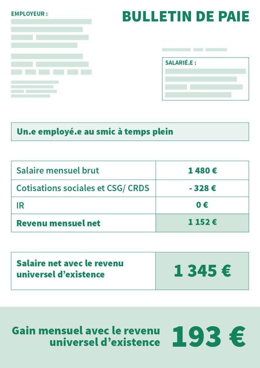 Le revenu universel d&#39;existence : concrètement ce que ça change sur les fiches de paie. #HamonDebat #LeGrandDebat #RUE <br>http://pic.twitter.com/LRYV2QKSuq