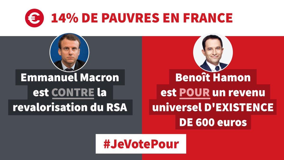 Macron est pour un salaire décent mais contre la revalorisation du RSA ? #HamonDebat #LeGrandDebat
