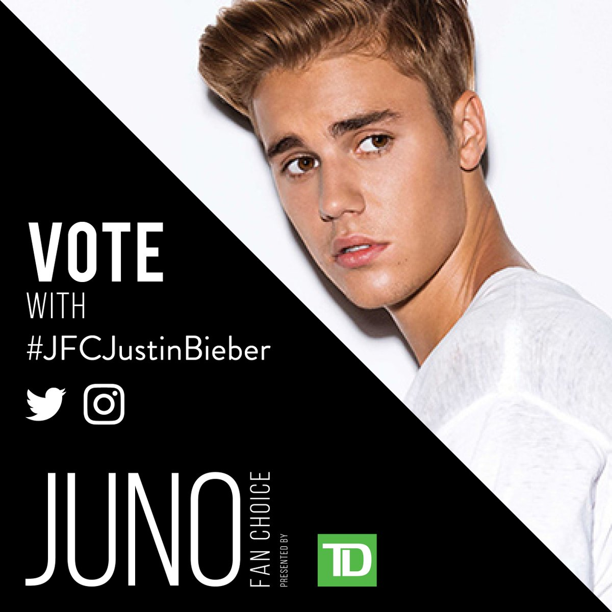 RT to vote for @justinbieber for JUNO Fan Choice Award presented by @T...