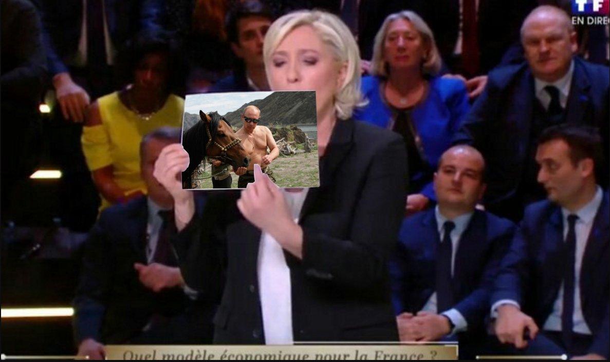 #LeGrandDebat Marine Le Pen est un fan #Putin <br>http://pic.twitter.com/piFzmGq7bV