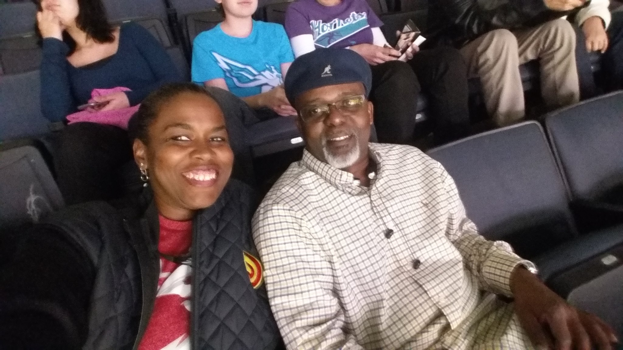 At @ATLHawks with my Panther sidekick @fevadsr  #TrueToAtlanta https://t.co/krUqu8v8Us