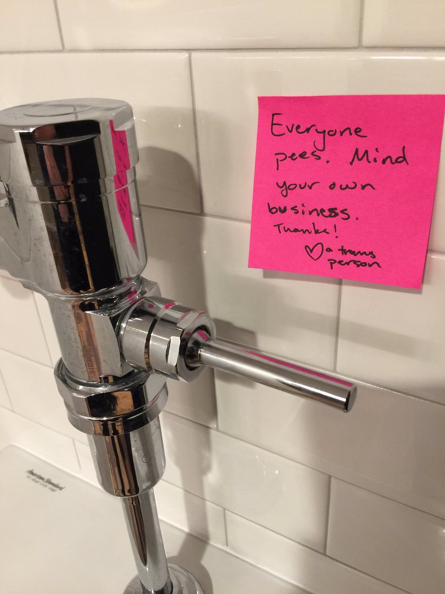 Post-it Note Protest: Transgender messages in MN State Capitol men's room. https://t.co/wE74rLsKpD