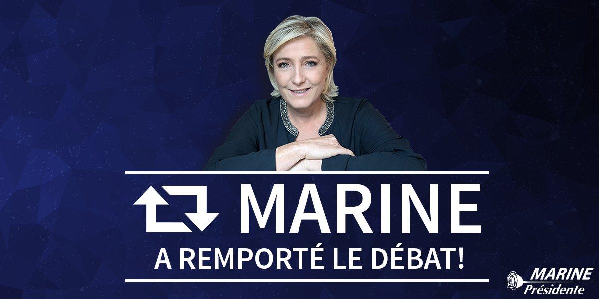 📣 RT 😉 ! #DébatTF1 #LeGrandDébat #Marine2017 #AuNomDuPeuple #AvecMarine
