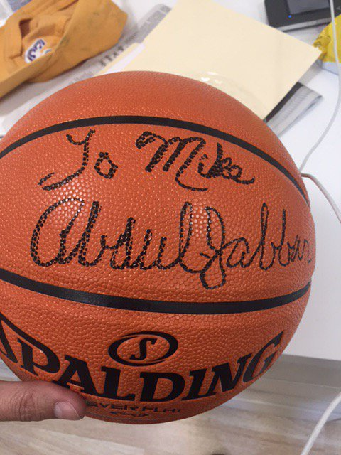 Mike Fleiss gift from Abdul Jabbar