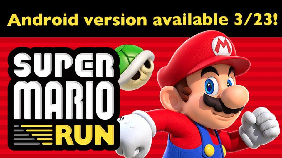 'Super Mario Run' coming to Android this week https://t.co/Slazcnrbhe...