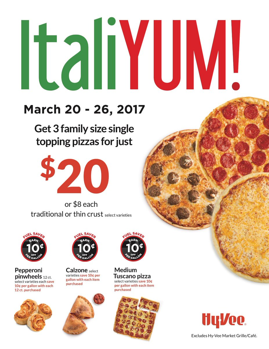 Pizza anyone? Our ItaliYum sale is going on NOW- 3/26. 🍕🍕🍕 https://t.c...