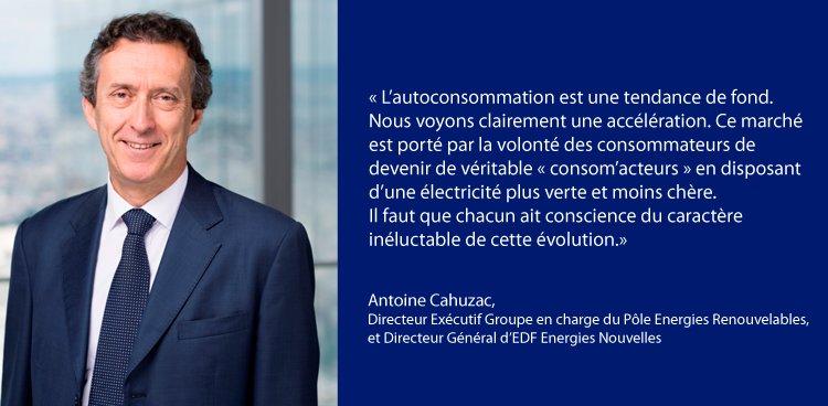 Aujourd'hui, Antoine Cahuzac DG d&#39;EDF EN s'est exprimé sur l'#autoconsommation #solaire @LesEchosEvents #ForumTE #ENR #transitionénergétique <br>http://pic.twitter.com/kwR1q2LzI5