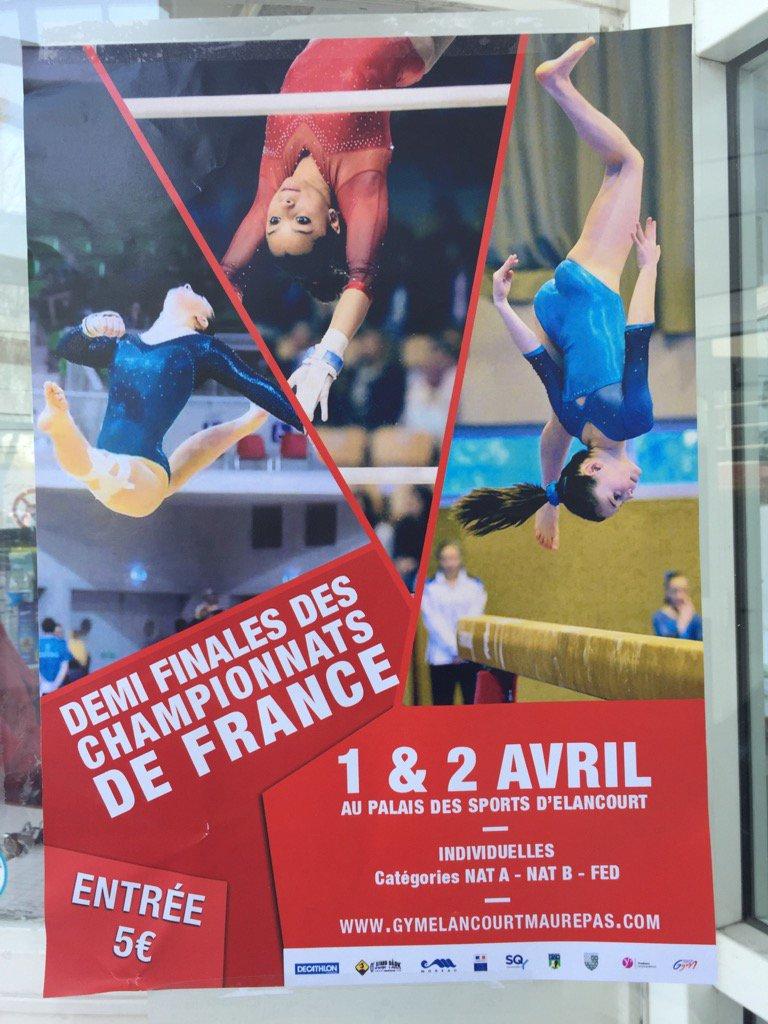 Demi-finale Championnat de France #gym #Elancourt #Maurepas 1 &amp; 2 avril 2017<br>http://pic.twitter.com/MzUyYPNxGb
