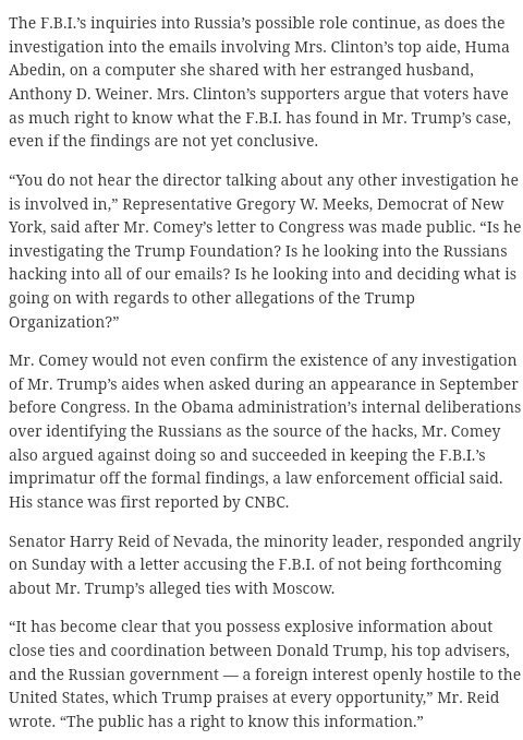 Mr. Comey Is he looking into and deciding what is going on with regards to other allegations of the #Trump Organization?  #TrumpRussia<br>http://pic.twitter.com/4z0TbQAFi4