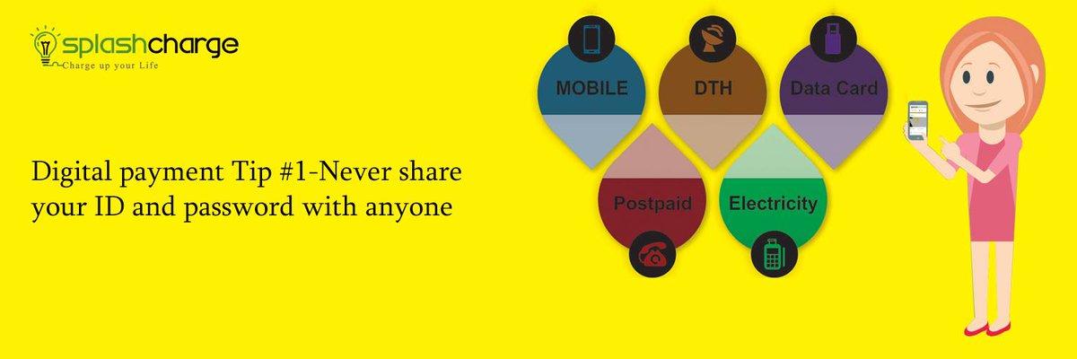 #Digitalpayment tips by #splashcharge,Check out new offers at  https:// goo.gl/JWuRJ1  &nbsp;   for #mobilerecharge #mobilepayments #bhimapp #fintech<br>http://pic.twitter.com/KJtNXSHcmE