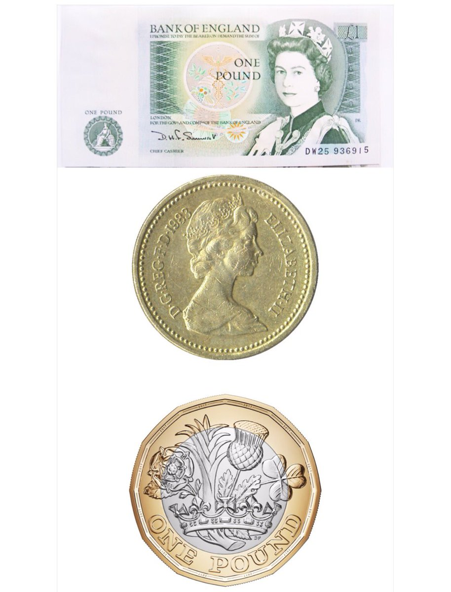34 years ago on 21 April 1983 the £1 coin was introduced replacing the old £1 note. Today we see the introduction of a #New£1coin #PoundCoin<br>http://pic.twitter.com/Ej6aoEY65A