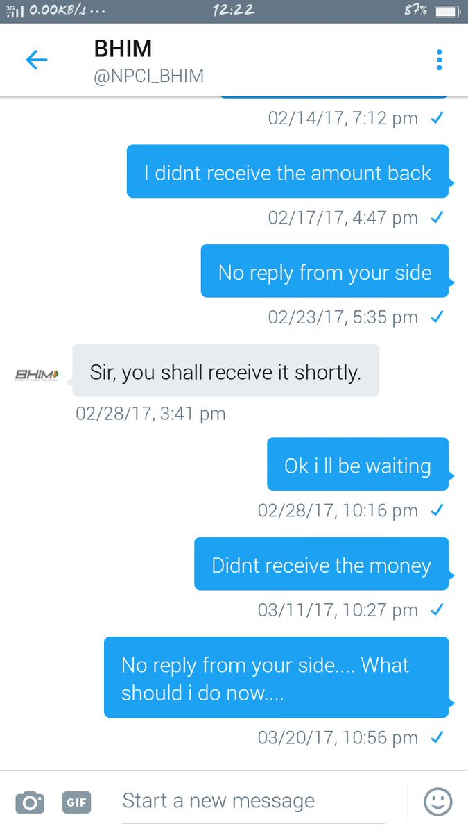 #BHIMApp This is wat its all about.. Didnt receive my money back still <br>http://pic.twitter.com/AYmi9gOHxk