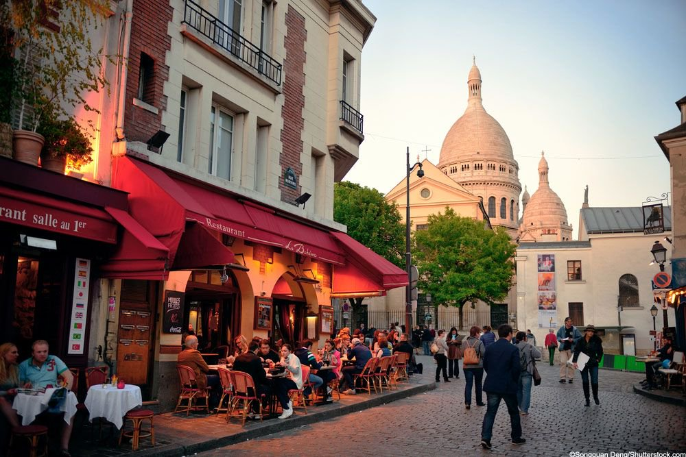Head to the famous hill of Montmartre and discover little streets full...
