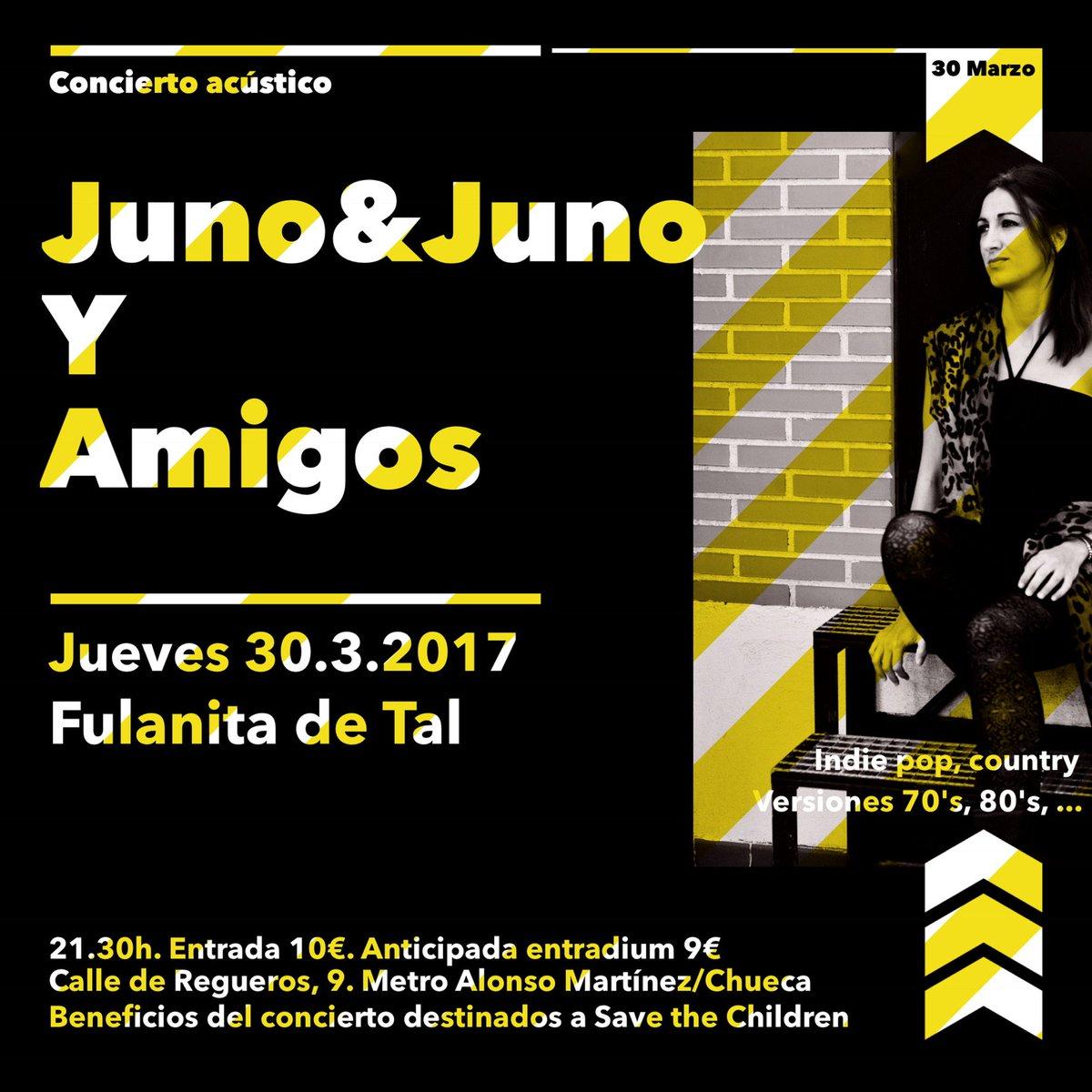 #Jueves30Marzo 21:30h #concierto de #indie #pop #versiones de @junomusica en @FulanitaDeTal__    http:// ow.ly/3QWx30a9KEt  &nbsp;   @lanocheenvivo<br>http://pic.twitter.com/4e4jfYNsIy