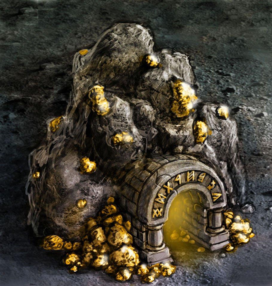 картинка гном добывает золото бочку правильно