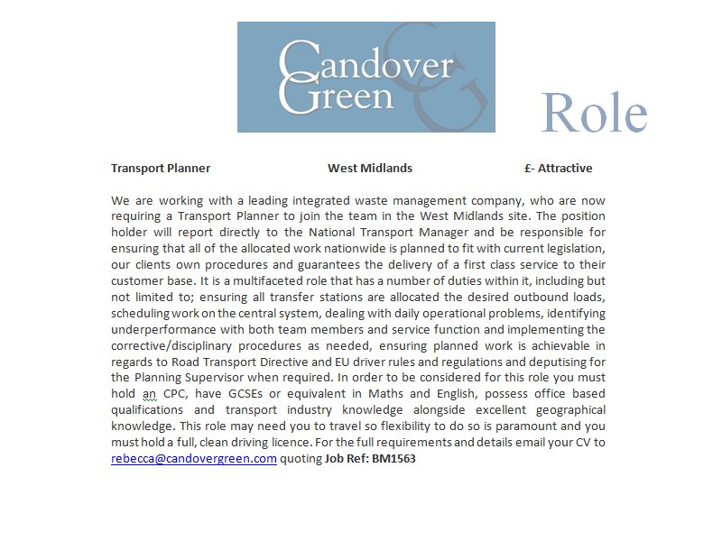 #Transport #Planner - #West #Midlands - £Attractive - #Waste #Management - Ref: BM1563 - #Westmidlands - #Wastemanagement<br>http://pic.twitter.com/H1VSt9EFLq