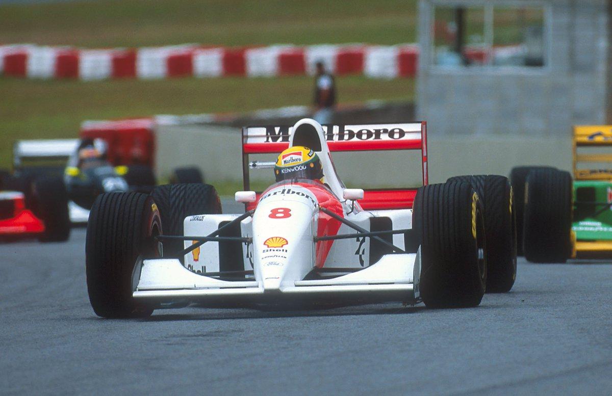 #OnThisDay in 1993, local hero Ayrton Senna mastered a typical São Pau...