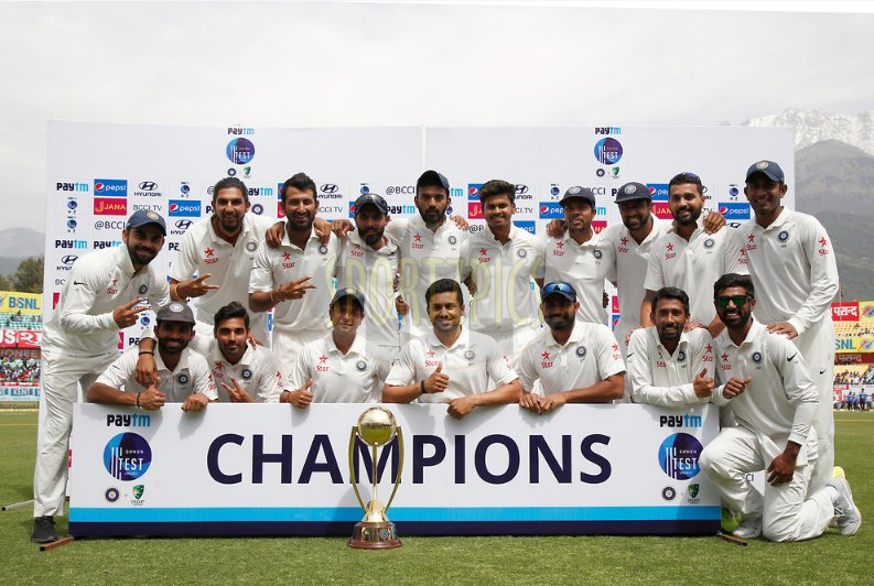 CongratulationsTeamIndia For Amazing Victory & Winning The Border-Gavaskar Test series 2-1.