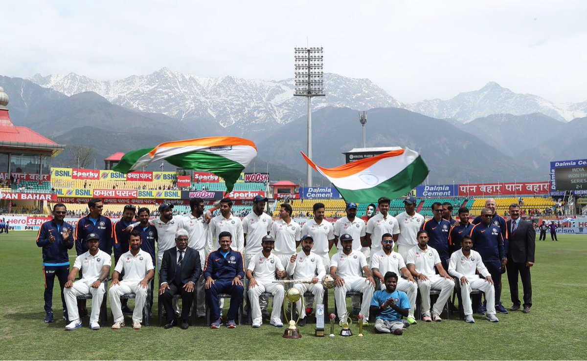 The team did a wonderful job with stellar performances. Congratulations on the series win & becoming no.1 in tests!