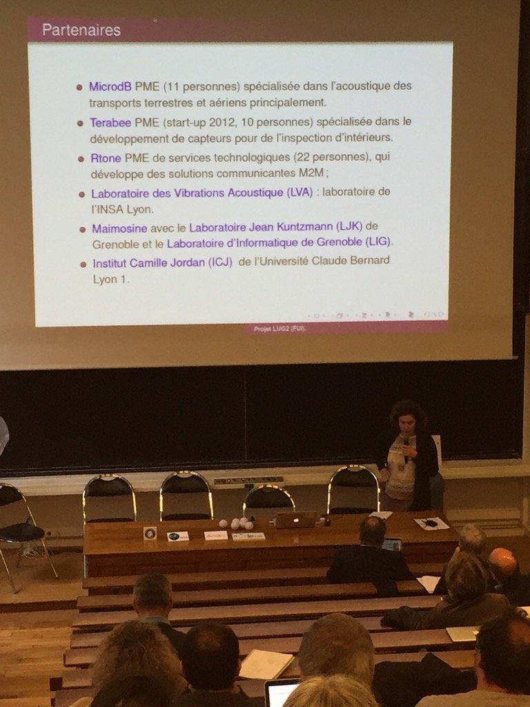 Un ex. de partenariat #maths entreprise  : projet FUI avec #MicrodB. Dans le réseau #MSO. Veronique Maume Deschamps <br>http://pic.twitter.com/rHtcwQRJOw