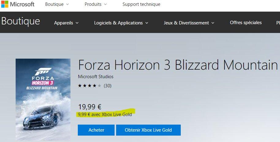 L&#39;incroyable extension #BlizzardMountain de #ForzaHorizon3  est en promo à 9,99€ pour les abonnés #XboxLive Gold.  Un must have! #XboxOne <br>http://pic.twitter.com/c9oWWlOyqP