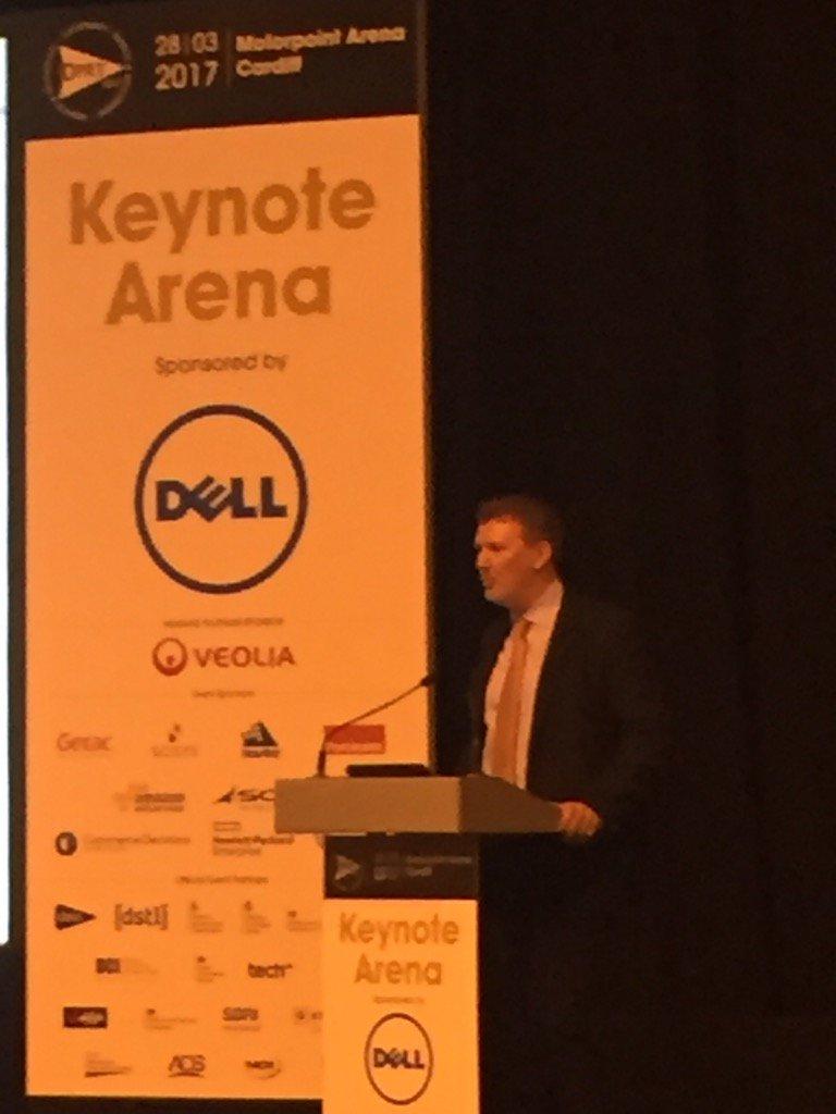 Nick Elliott, DG Commercial, DE&S provides the opening keynote address @DPRTE