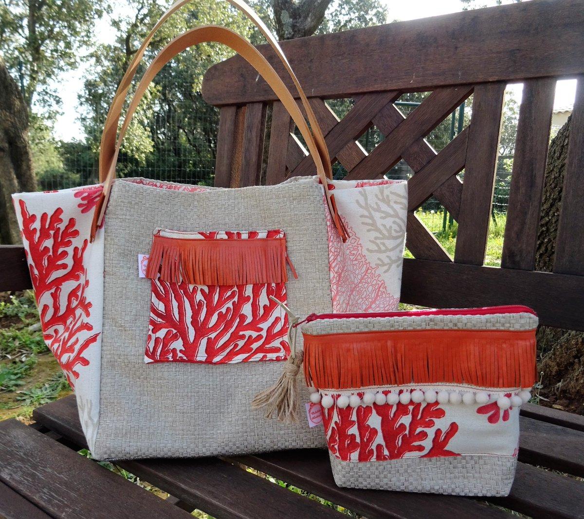 Un avant goût de l&#39;été !  #sac #coraux #été #trousse #madeinFrance #artisans #creationmartineb #ANSES #cuir #fashion #mode #blog  #blogger <br>http://pic.twitter.com/2tf1ErOn7l