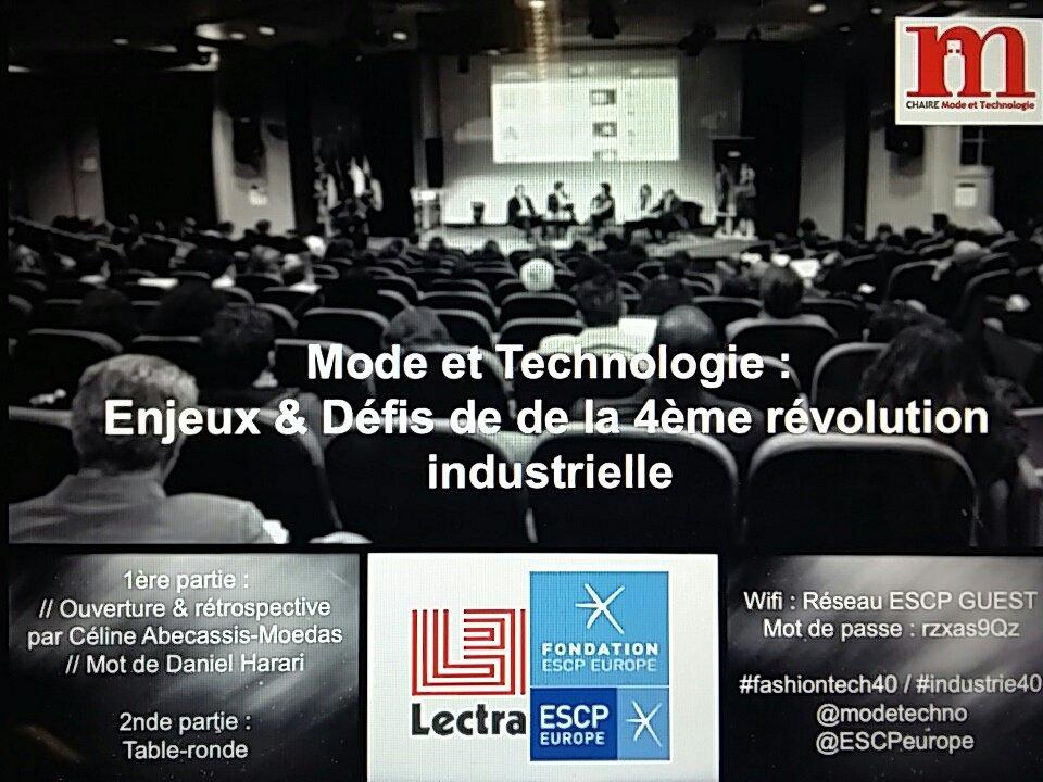Thumbnail for Chaire Mode et technologie : enjeux et défis de la 4ème révolution industrielle - conférence du 28 mars 2017